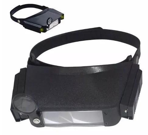 Óculos tipo lupa com LEDS e 3 lentes