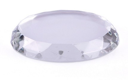 Pedra de cristal para depositar cola