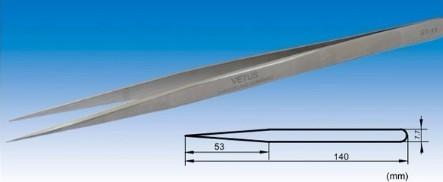 Pinça Reta Inox de Precisão Vetus para Alongamento de Cílios TS-11
