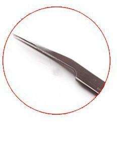 Pinça Curva Inox de Precisão Vetus para Alongamento de Cílios TS-18