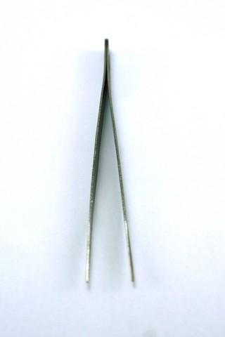 Pinça reta  inox para Alongamento de Cílios TS-11 Gooi