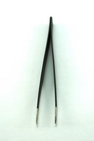 Pinça reta preta para Alongamento Cílios