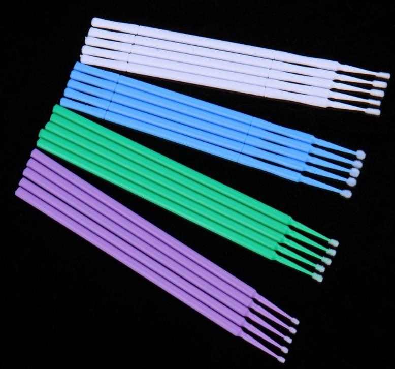 Refil Kit 100 escovas microfibra tam G (branco) para remoção cilios