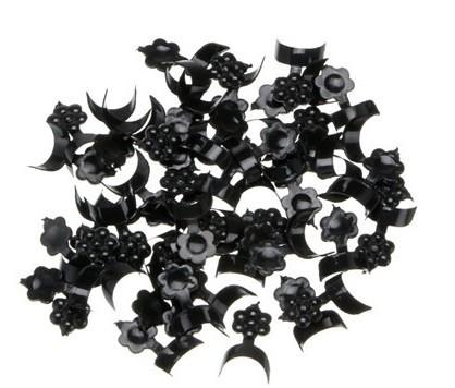 Tip curto preto com abas para francesinha pacote 500 unidades