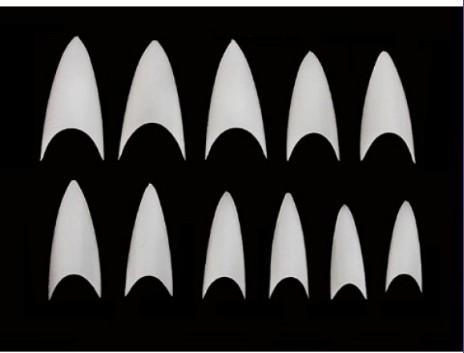 Tip tipo Stiletto cor Branca 500 unidades