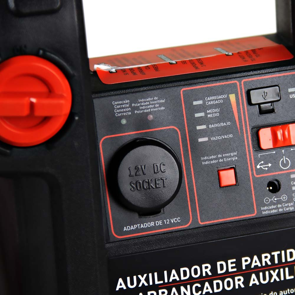 Auxiliar de Partida 500A 12V com Luz de Emergência - Black+Decker