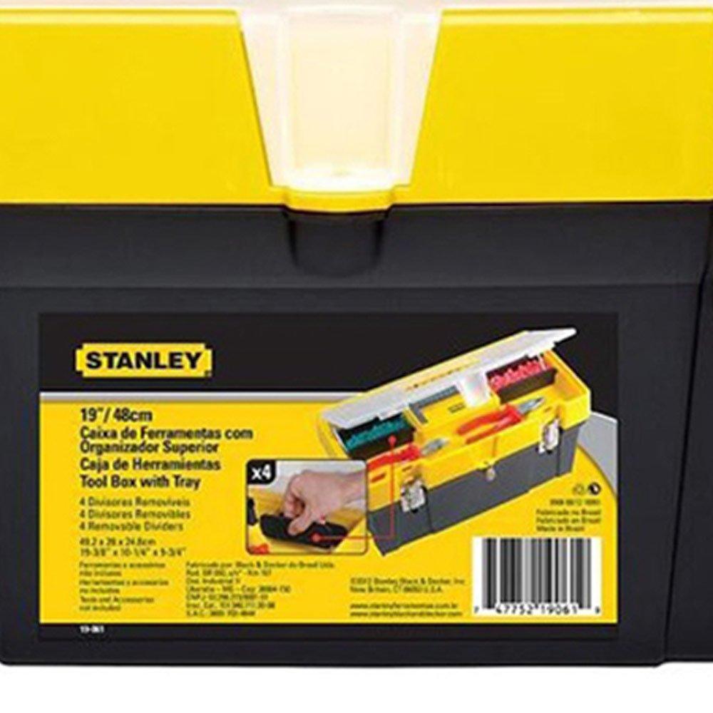 Caixa de Ferramentas 19 Polegadas com Tampa Organizadora - Stanley