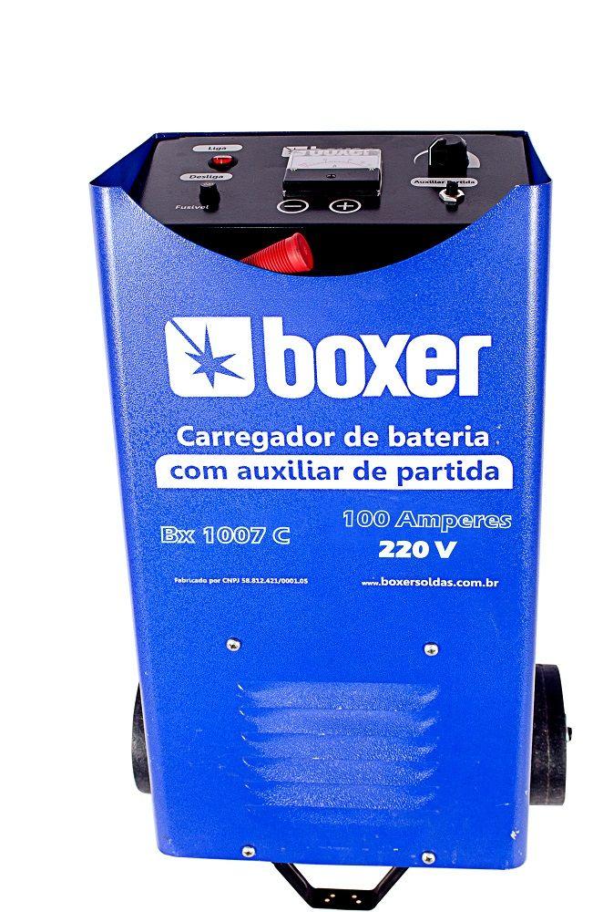 Carregador de Bateria com Aux. de Partida 100A 220V BX1007C Boxer