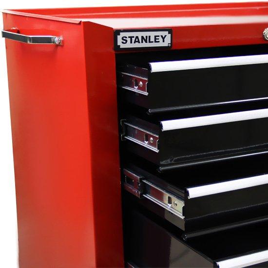 Carro para Ferramentas com 5 Gavetas Preto e Vermelho - Stanley