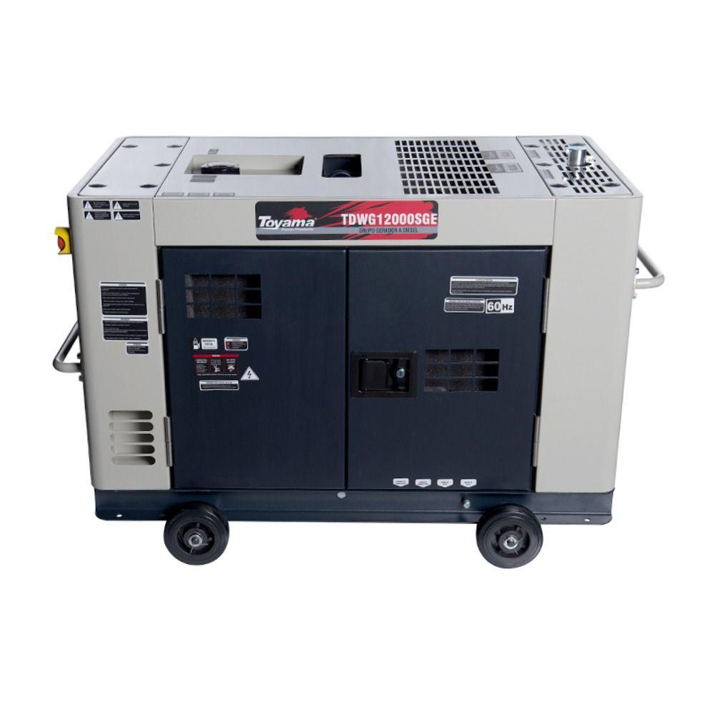 Gerador de Energia 10 KVA à Diesel Monofásico P. E. TDWG12000SGE Toyama