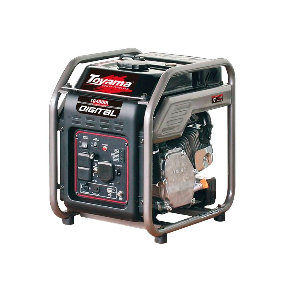 Gerador de Energia à Gasolina 4 KVA Monofásico 4 Tempos TG4000IP Toyama
