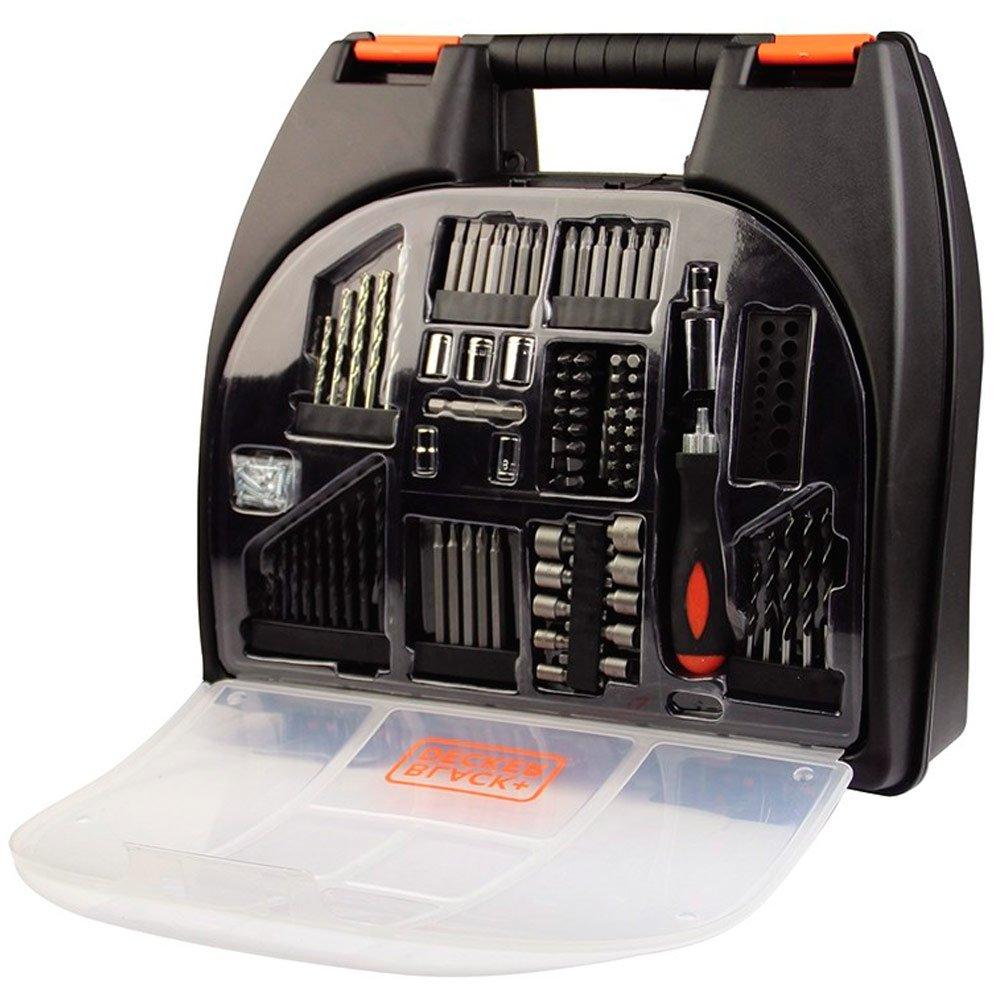 KIT Parafusadeira e Furadeira 12V Bivolt com Maleta e 100 Acessórios - Black+Decker