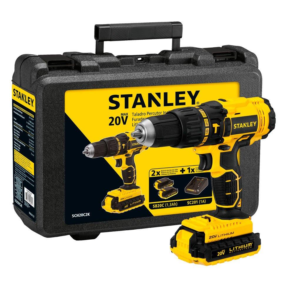 Parafusadeira e Furadeira de Impacto 1/2 Polegada à Bateria Max Ion Litio 20V - Stanley