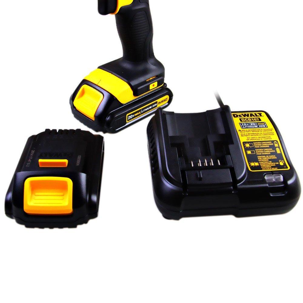 Parafusadeira e Furadeira de Impacto 1/2 Polegadas à Bateria 20V com 2 Baterias - Dewalt