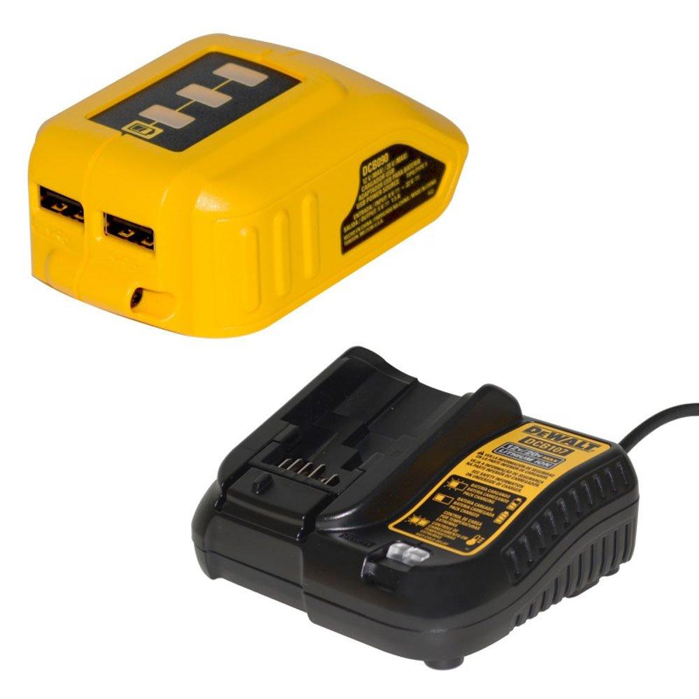 Parafusadeira e Furadeira de Impacto 1/2 Polegadas à Bateria 20V com 2 Baterias e USB - Dewalt