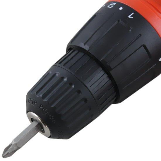 Parafusadeira e Furadeira Reversível Com 2 Baterias 12V 3/8 Polegadas - Black+Decker