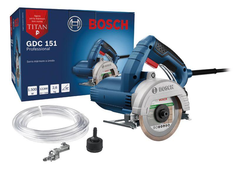 Serra Mármore TITAN GDC 151 1500W e 12.200 RPM com 2 Discos - 1500W e 12.200 RPM - Bosch