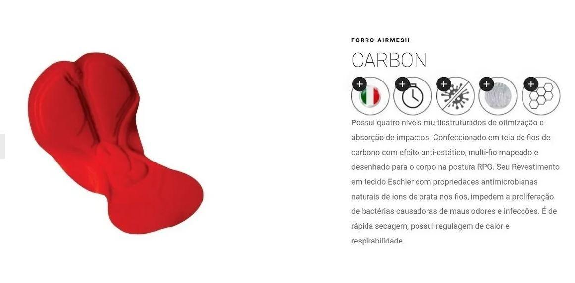 Bermuda Ciclismo Mtb Speed Mauro Ribeiro Carbon 2.0 Original