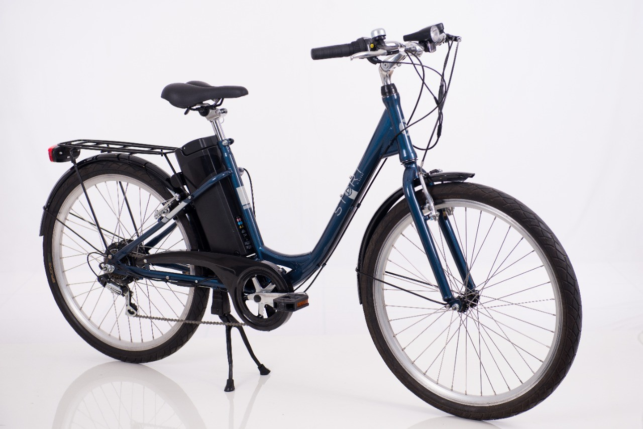 Bicicleta Elétrica Sense Start Azul Aro 26 24v 250w 12ah + Frete - Sudeste