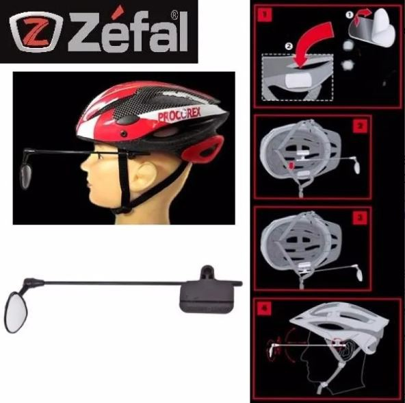 Espelho Retrovisor Bike Zefal Z Eye Para Capacete