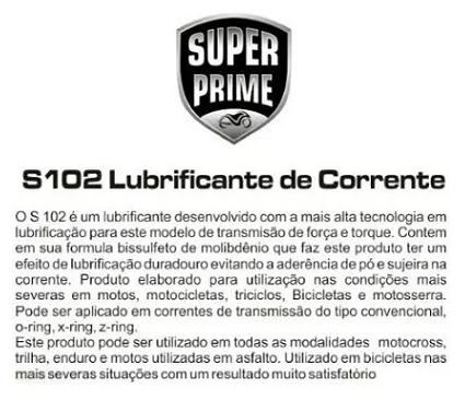 LUBRIFICANTE DE CORRENTE PREMIUM S102  300ml