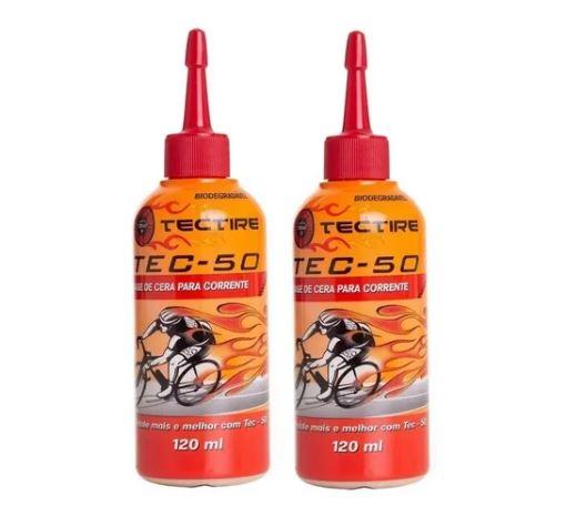 Óleo Lubrificante Bike - Tec 50 Bio Cera 120ml -  2 Unid