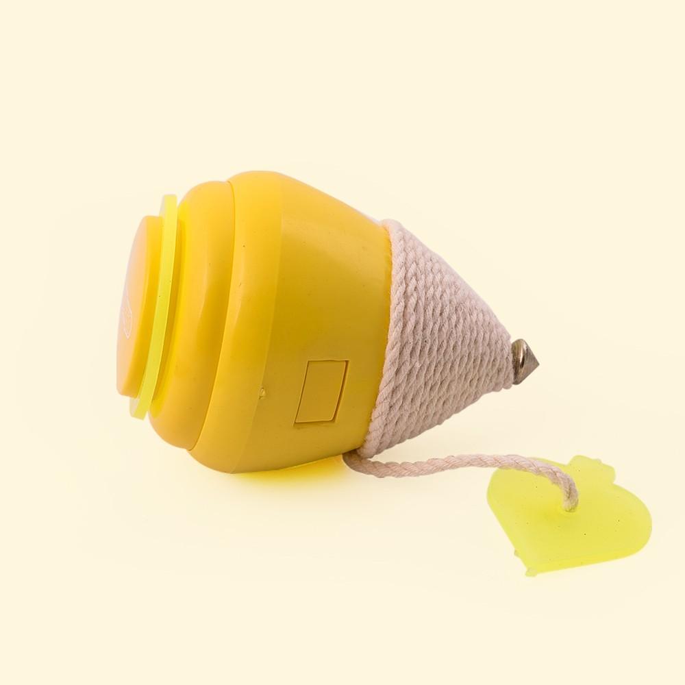 Pião Plástico - Amarelo