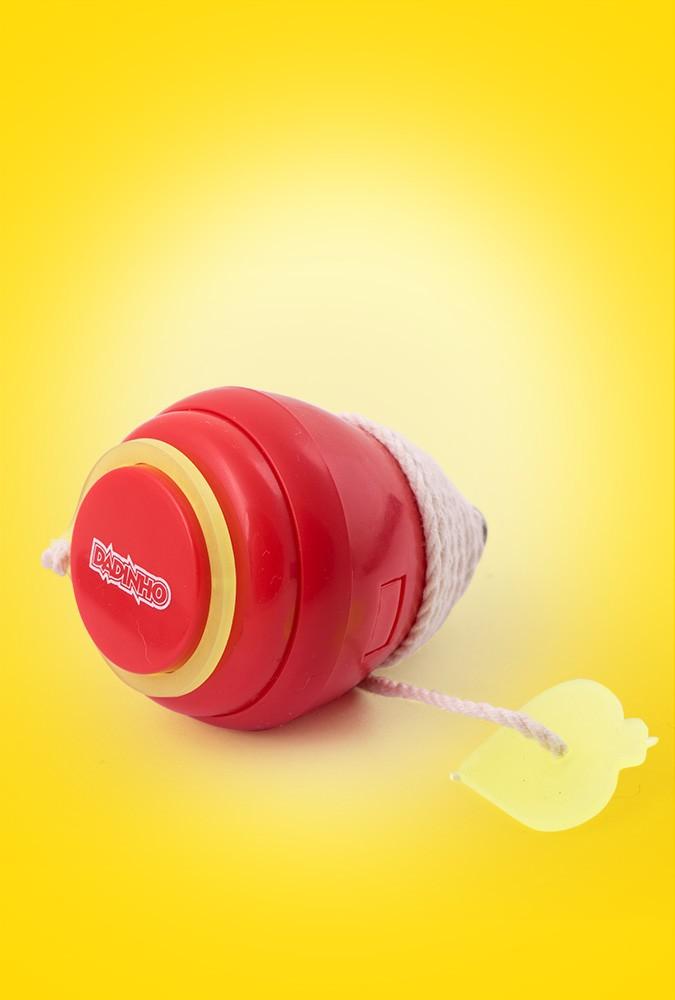 Pião Plástico - Vermelho