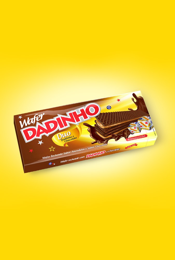 Wafer Dadinho Duo Chocolate - 130g