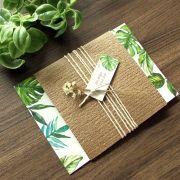 Convite Casamento Bamboo