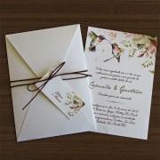 Convite Casamento Beija-flor