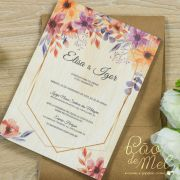 Convite Casamento em madeira
