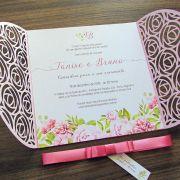 Convite Casamento laser Tanise