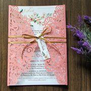 Convite Casamento Rosa Quatzo
