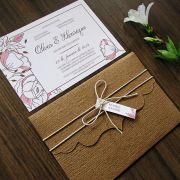 Convite Casamento Rústico Olívia
