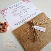 Convite de Casamento rústico Camila arabescos
