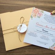 Convite Formatura Pêssego