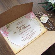 Convite Casamento Carteira Rústico