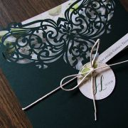 Envelope recorte a laser verde santiago