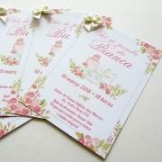 Kit convite chá - Bianca - 10 un