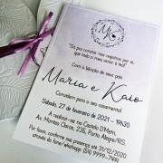 Mini Convite Casamento LAVANDA