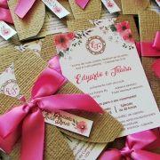 Mini convite casamento Pink