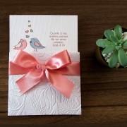 Mini Convite Casamento Pombinhos