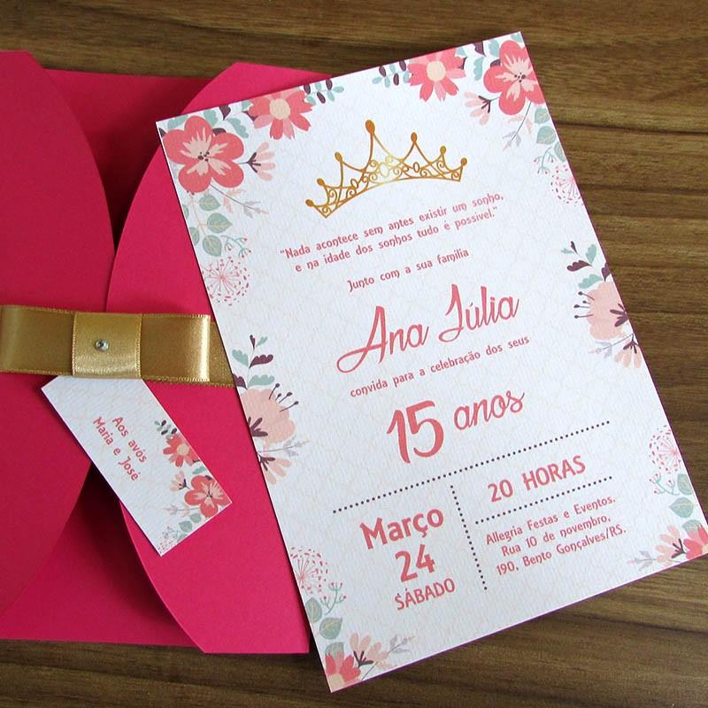 Convite 15 anos Princess