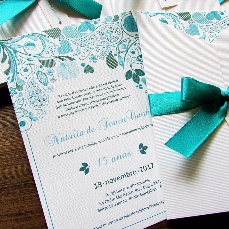 convite 15 anos Tiffany