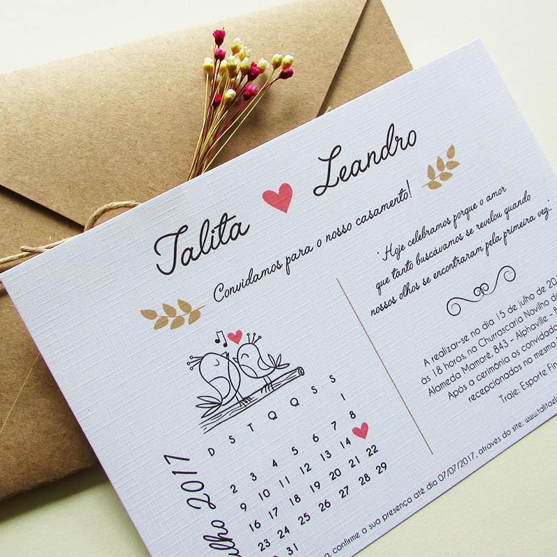 Convite Casamento Amor perfeito