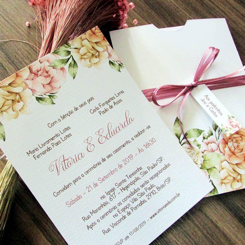 Convite de Casamento Amore mio