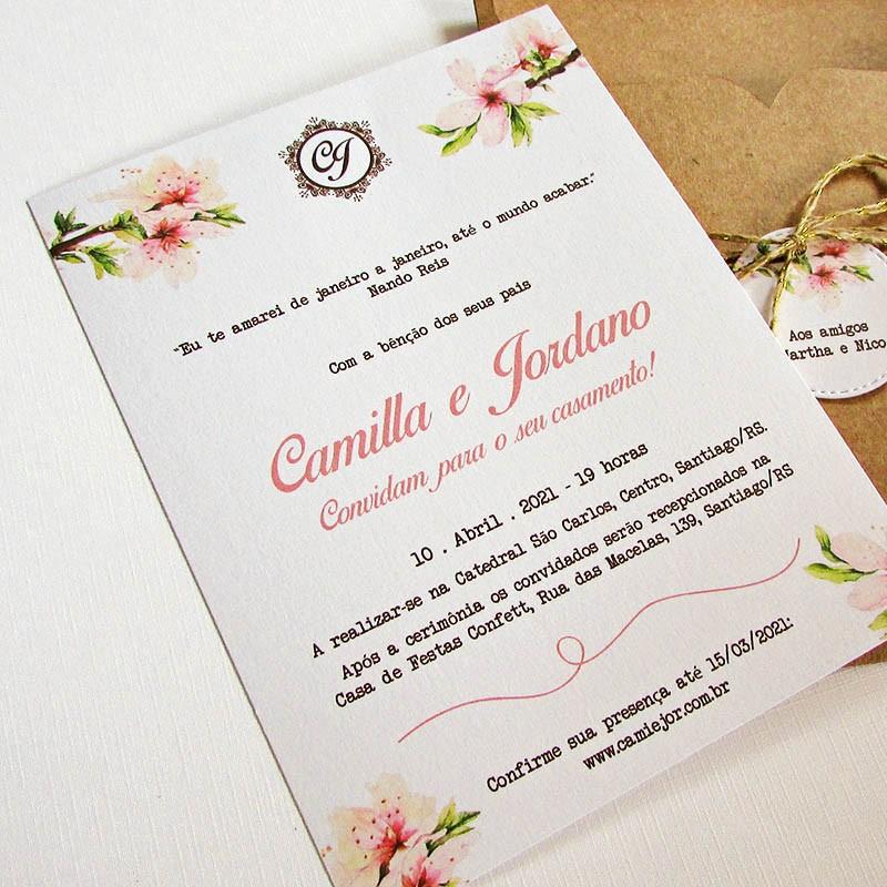 Convite Casamento Astromélias