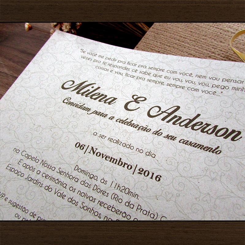 Convite Casamento Aurora