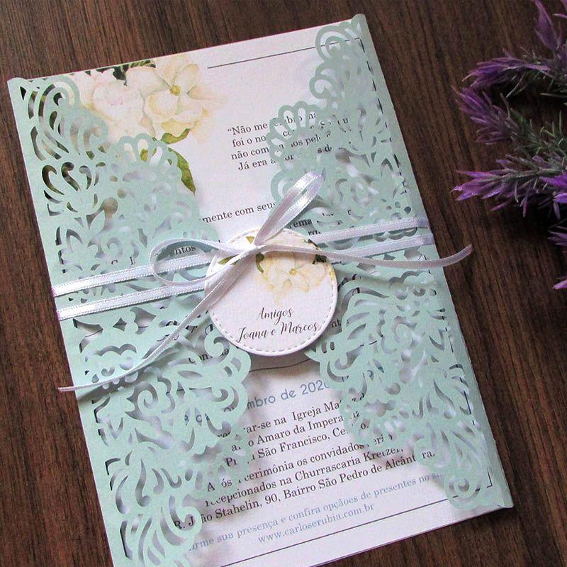 Convite Casamento Azul Serenity